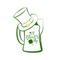 green beer glass vector image