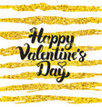 happy valentine day handwritten card vector image vector image