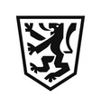 heraldic lion on shield vector image vector image