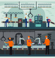 industrial manufacturing plant horizontal banners vector image vector image