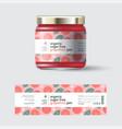 jam grapefruit label packaging jar sugar free vector image vector image