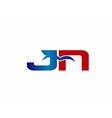 JN Logo Graphic Branding Letter Element vector image