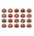 lot of icons vector image vector image