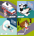 medical technologies isometric concept vector image vector image