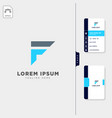 minimal f initial logo template free business vector image vector image