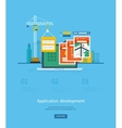 Modern flat design application development concept vector image vector image