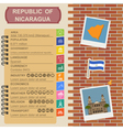Nicaragua infographics statistical data sights vector image vector image