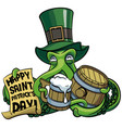 octopus celebrating patricks day vector image vector image