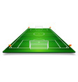 perspective of football field soccer field eps 10 vector image