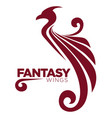 phoenix bird or fantasy eagle logo template for vector image vector image