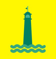 realistic lighthouse building isolated on vector image vector image