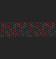 red and black glossy hexagons tech abstract banner vector image vector image