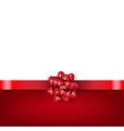 red bow with ribbon isolated white background vector image vector image