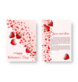 romantic card with red hearts vector image
