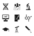 Science education icons set simple style vector image vector image