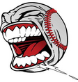 screaming baseball vector image vector image