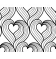 seamless background hand drawn hearts vector image vector image