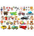 set children toys vector image vector image