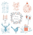 set christmas and new year graphic elements vector image