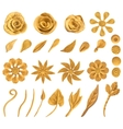 Set of floral graphic design elements vector image vector image