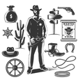 Sheriff Icon Set vector image vector image
