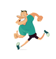 smiling running man vector image vector image