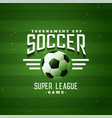 soccer sports football league game background vector image