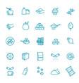 sugar icon set in thin line style vector image vector image