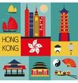 Symbols of Hongkong vector image vector image