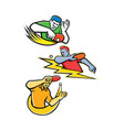 table tennis sports mascot collection vector image