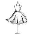 tailor dummy fashion icon on white background vector image