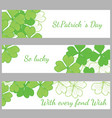 the hand written inscription happy st patricks day vector image