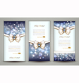 Three greeting cards vector image vector image