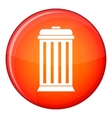 Trash can icon flat style vector image vector image