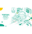 virtual reality outline 3d isometric concept vector image