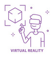 Virtual reality vr concept use in learning