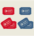 cinema tickets in red vector image