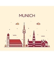 Munich skyline linear style vector image