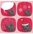 Cute Christmas Cats Set vector image