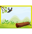 Flying bird in beautiful nature vector image