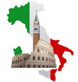 italy with map vector image
