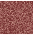 seamless pattern of stylized leaves vector image