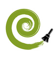 Spiral curve brushed circular shape Green vector image