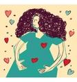 Young happy pregnancy woman color vector image