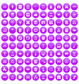 100 student icons set purple vector image vector image