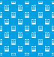 24 hours parking pattern seamless blue vector image