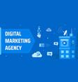 a modern digital marketing agency vector image vector image