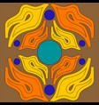 abstract ornament of flame tongues orange and vector image vector image