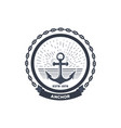 anchor black logo vector image vector image