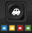 Auto icon symbol Set of five colorful stylish vector image